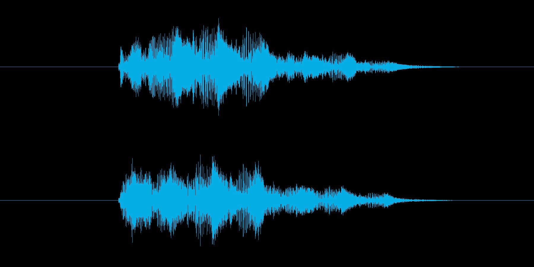 スライム系の攻撃音の再生済みの波形