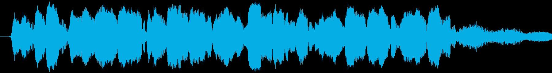 黒電話や目覚まし時計の音の、ジリリリリ…の再生済みの波形