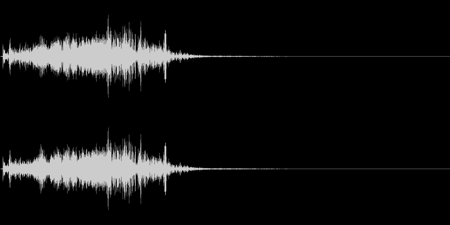 ズオーン!という大砲からのビーム発射音…の未再生の波形