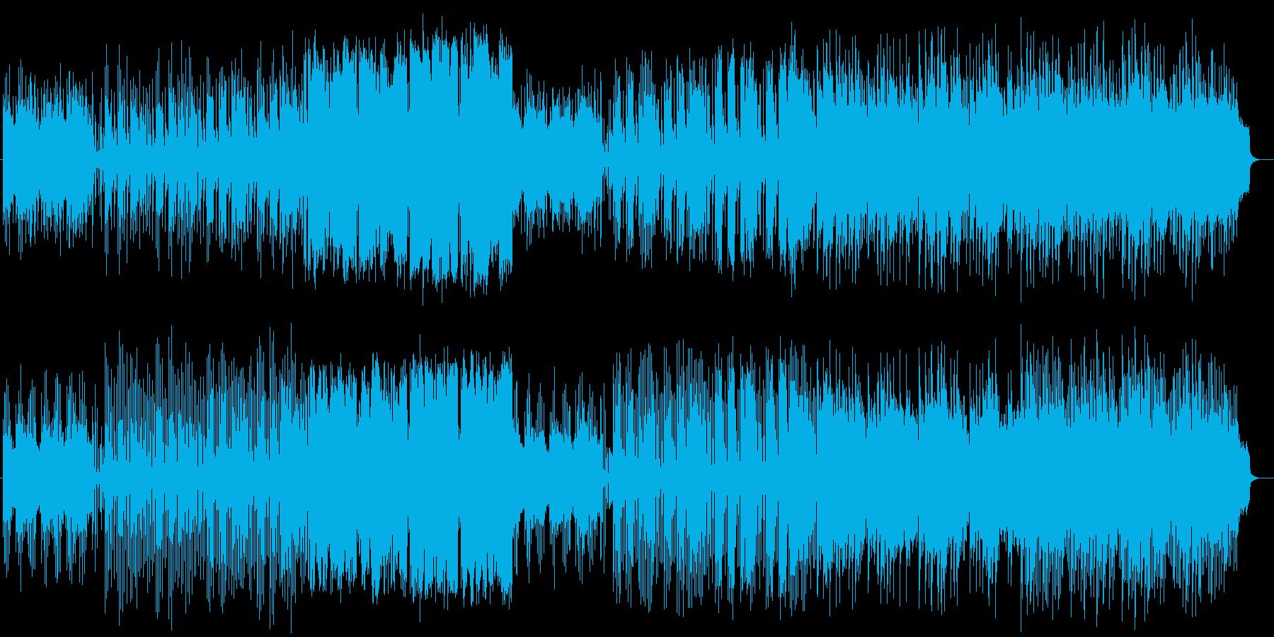 少し暗めで不安定な気持ちのミュージックの再生済みの波形