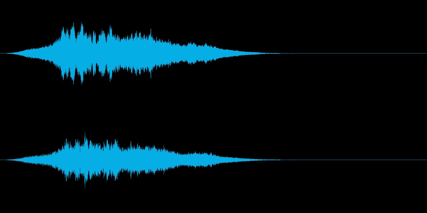 ブ〜ン!蜂ハチや昆虫が飛ぶ鳴く効果音02の再生済みの波形