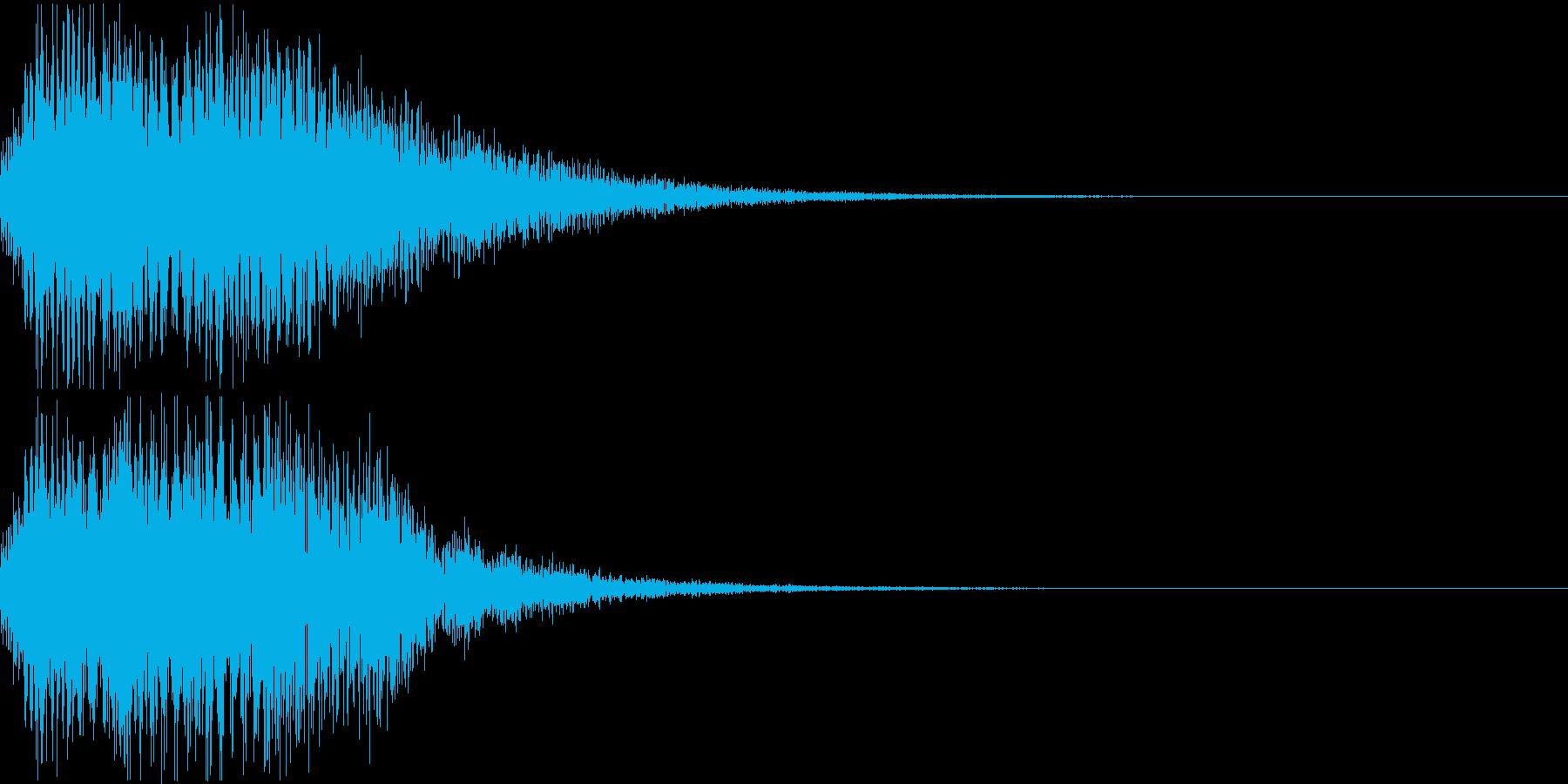 ちょっと豪華なボタン音、決定音の再生済みの波形