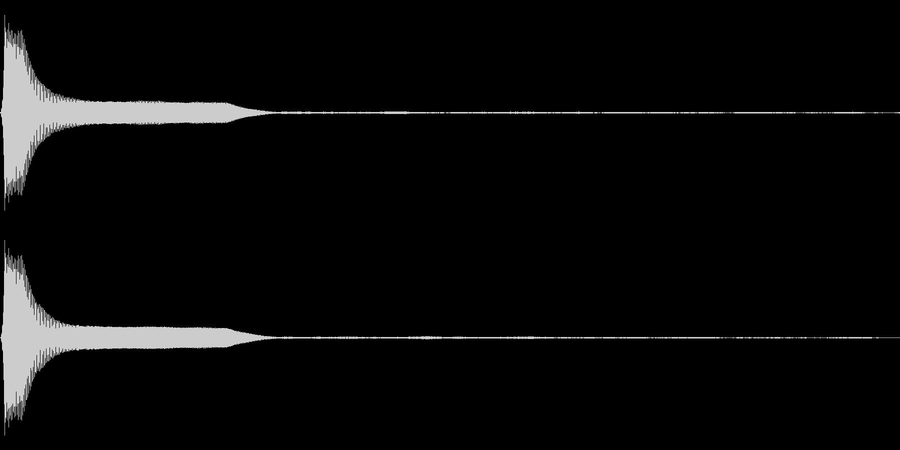 Count カウントダウン 単発音 3の未再生の波形