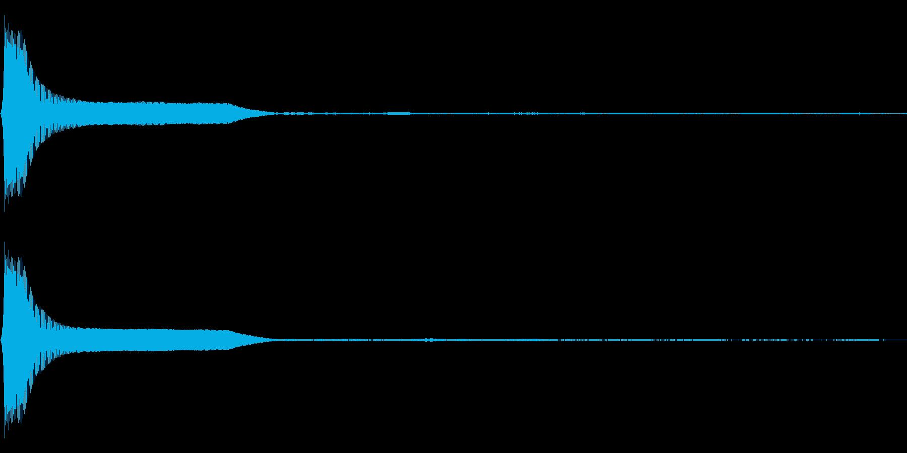 Count カウントダウン 単発音 3の再生済みの波形