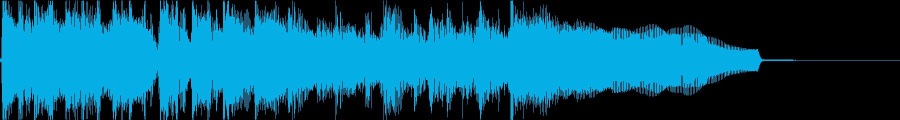 生演奏でのハードなロックジングルL1の再生済みの波形
