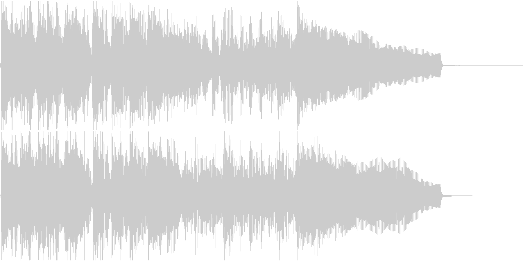 生演奏でのハードなロックジングルL1の未再生の波形