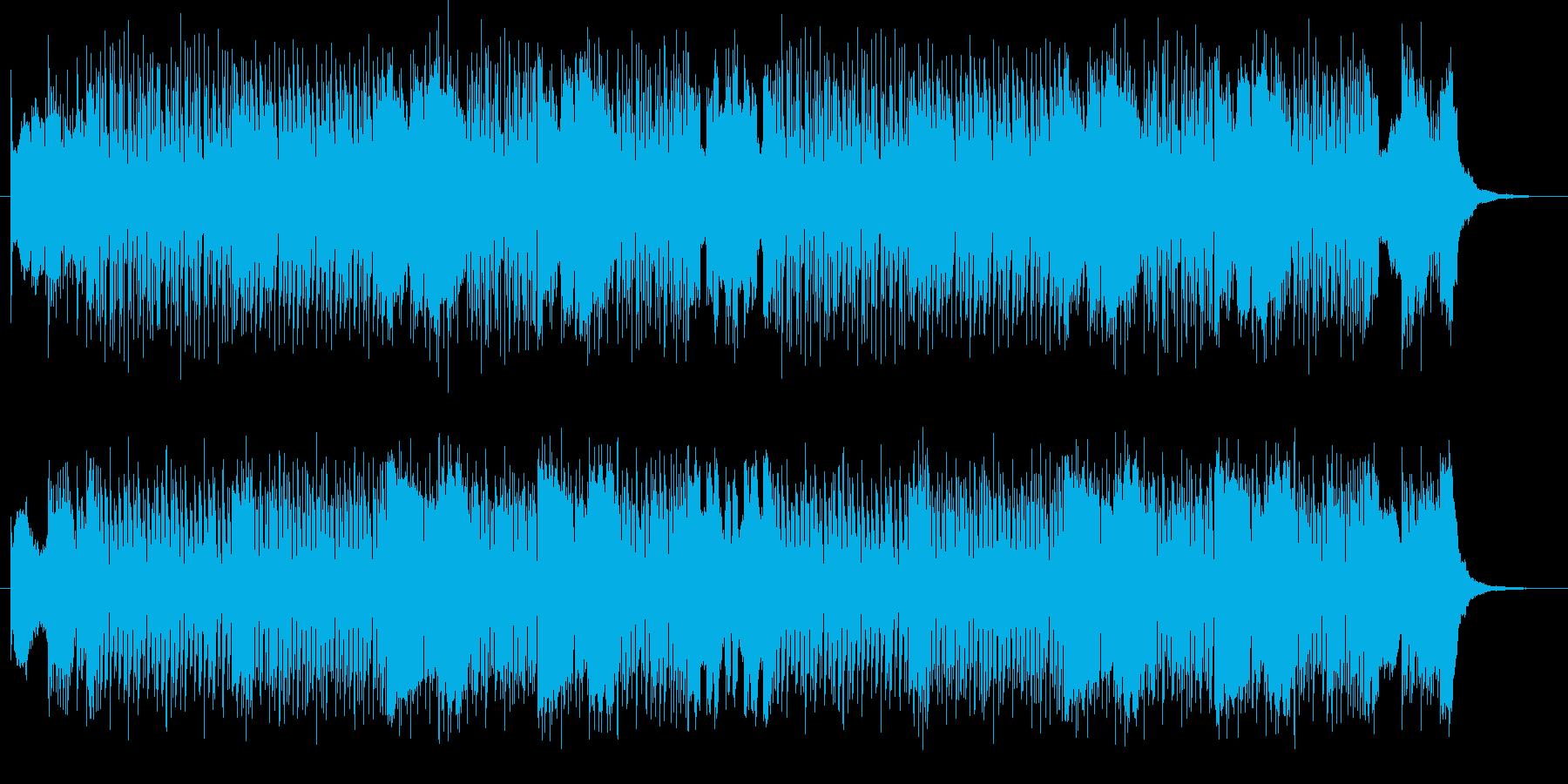 力強いロックのアップテンポミュージックの再生済みの波形