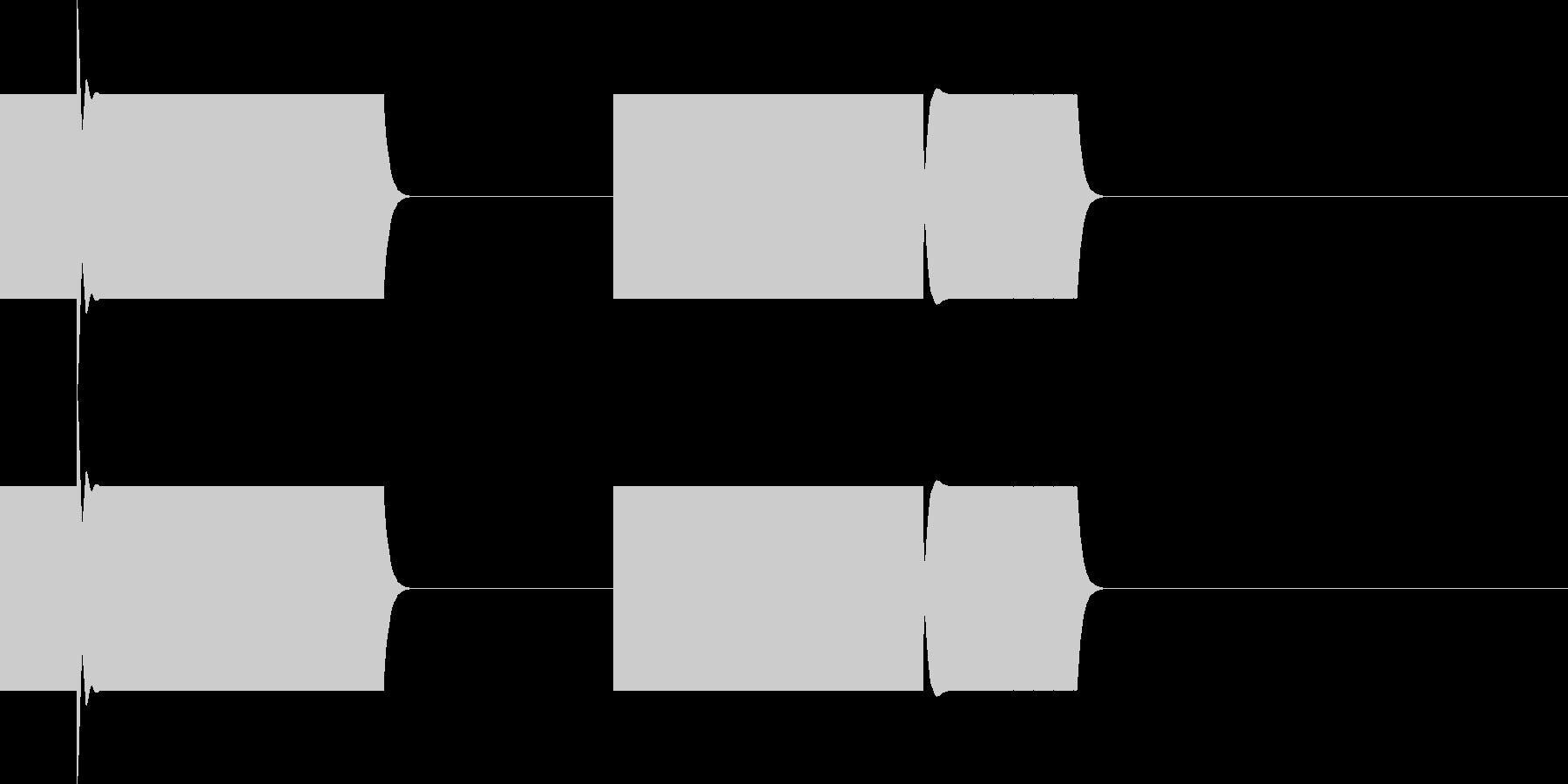 ボタン・操作音5の未再生の波形