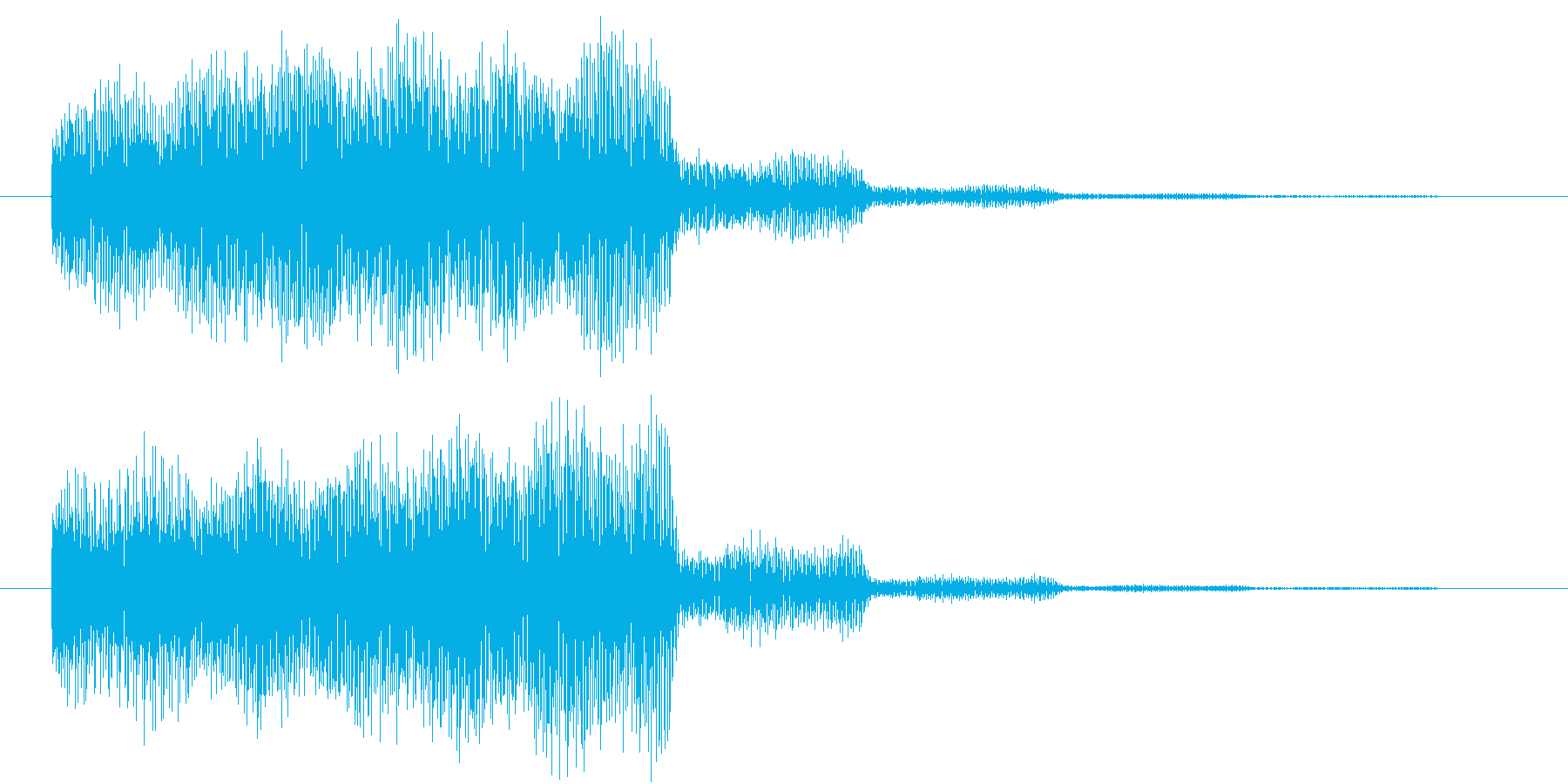 サウンドロゴ2の再生済みの波形