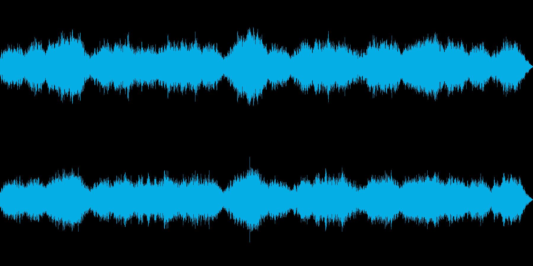 真っ暗な感じのアンビエント系ホラーの再生済みの波形