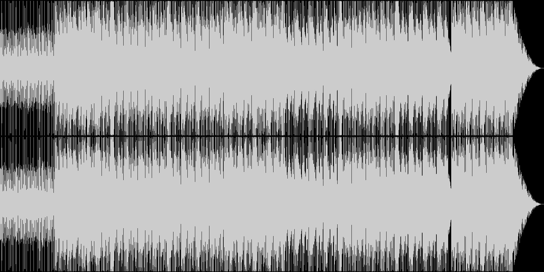 軽快で明るいトラップ(ヒップホップ)の未再生の波形