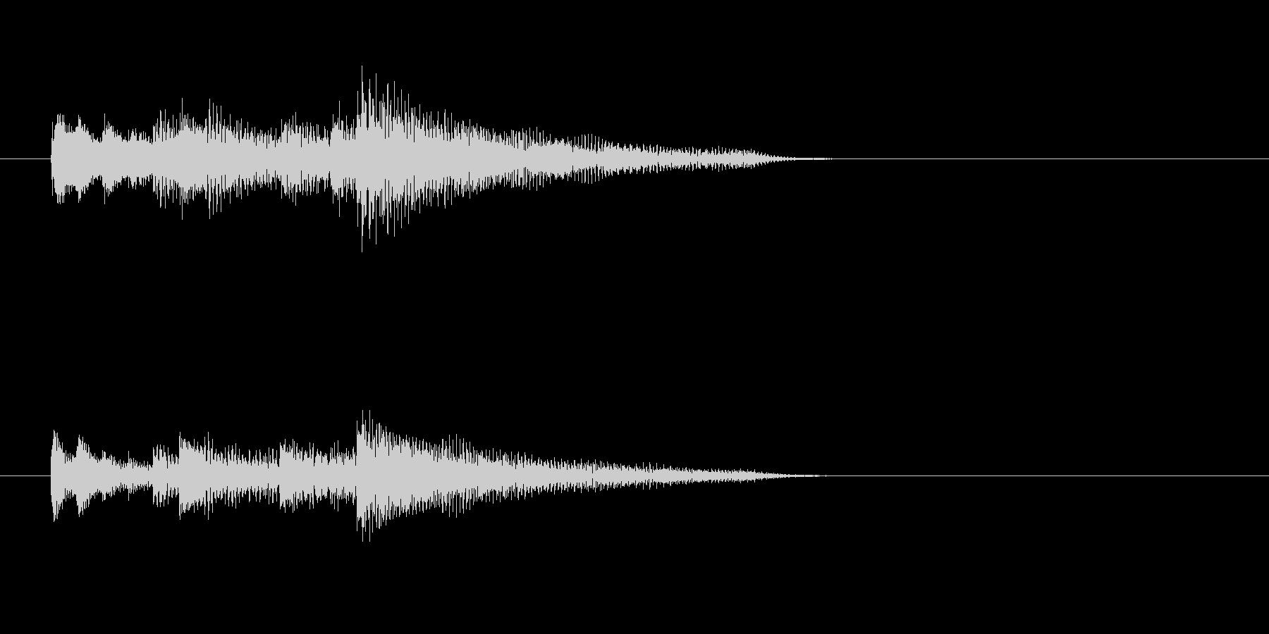 ピアノ、爽やか、下降アルペジオのジングルの未再生の波形