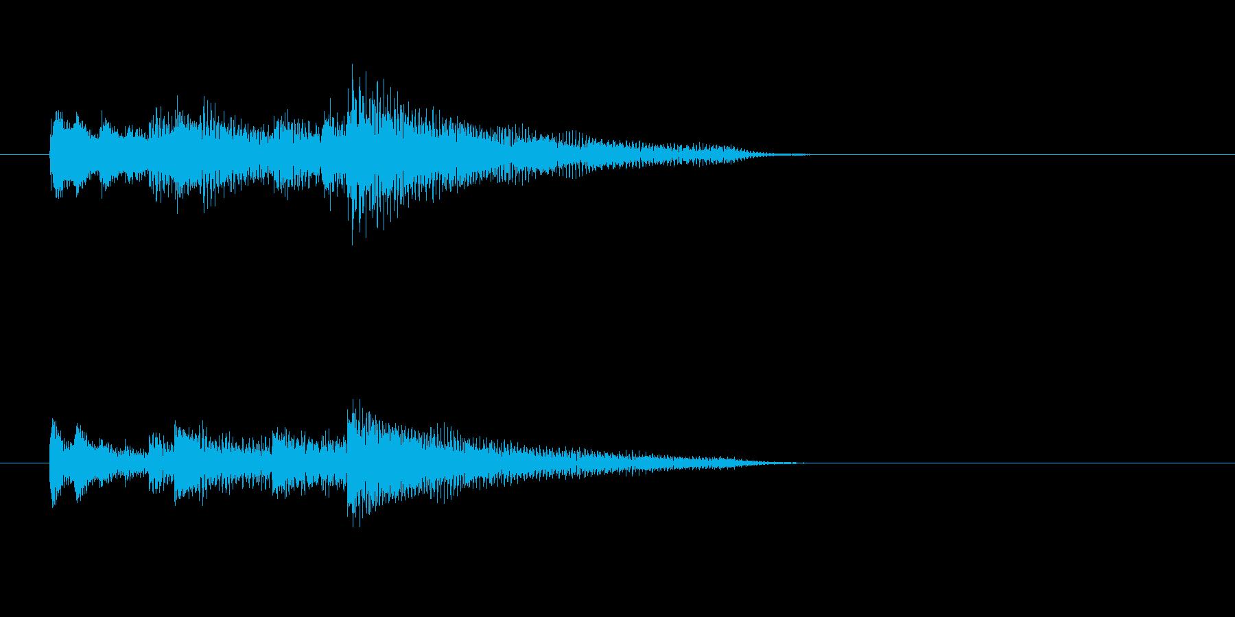 ピアノ、爽やか、下降アルペジオのジングルの再生済みの波形