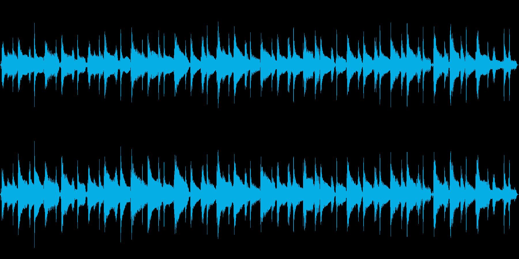 24秒ループ/可愛いウクレレポップスの再生済みの波形