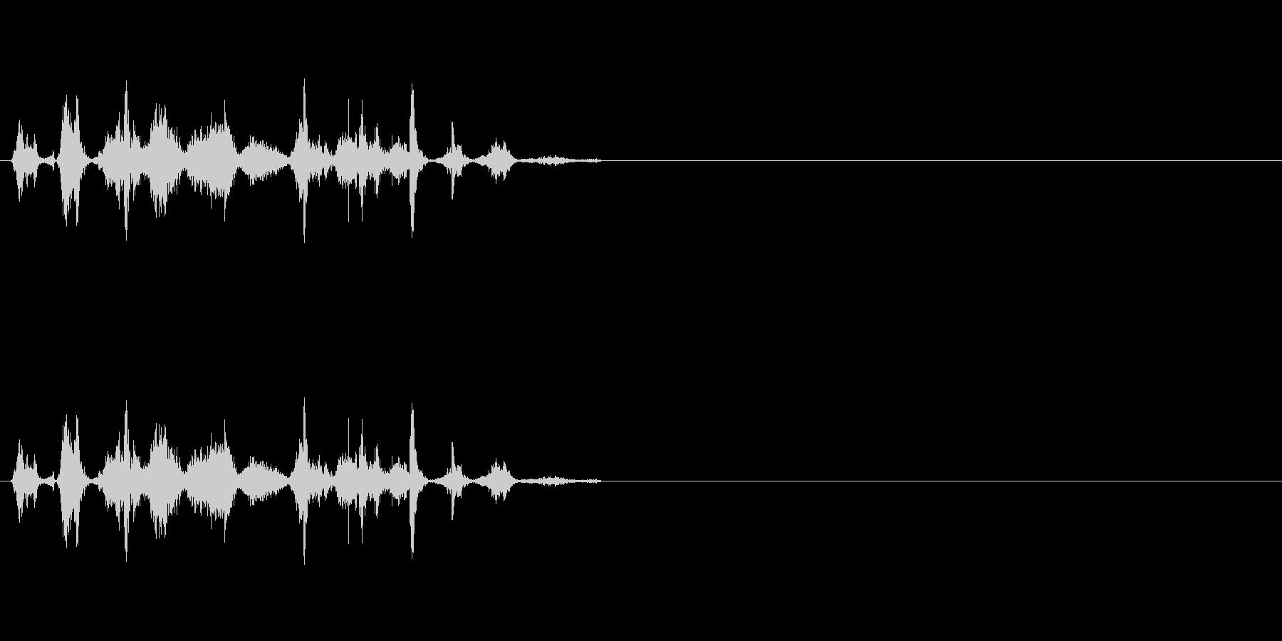 コミカルな小動物の鳴き声の未再生の波形