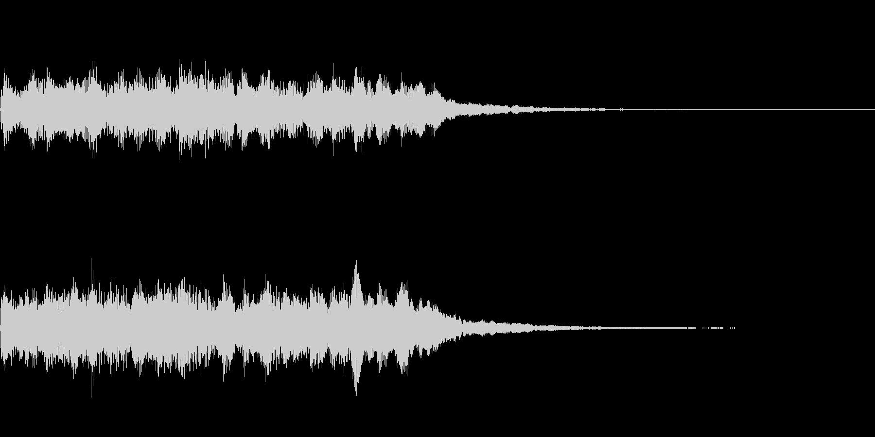 煌びやかなサウンドロゴの未再生の波形