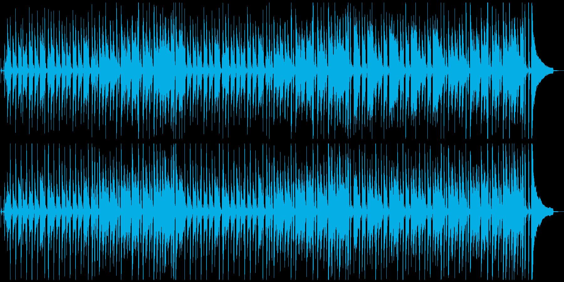 シンプルで軽快な明るい曲の再生済みの波形