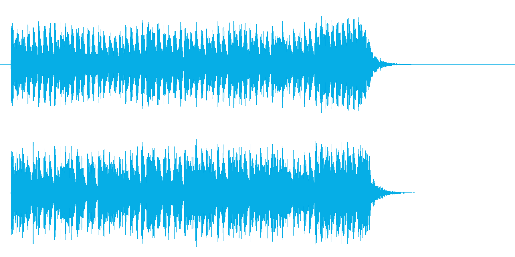 愛らしいコミカル調BGM(サビ)の再生済みの波形