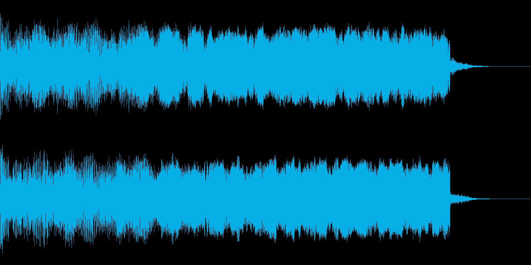上昇音の再生済みの波形