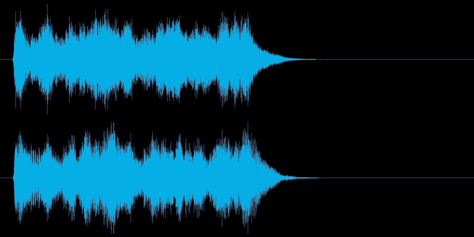 軽快で華麗なクラシカルジングルの再生済みの波形