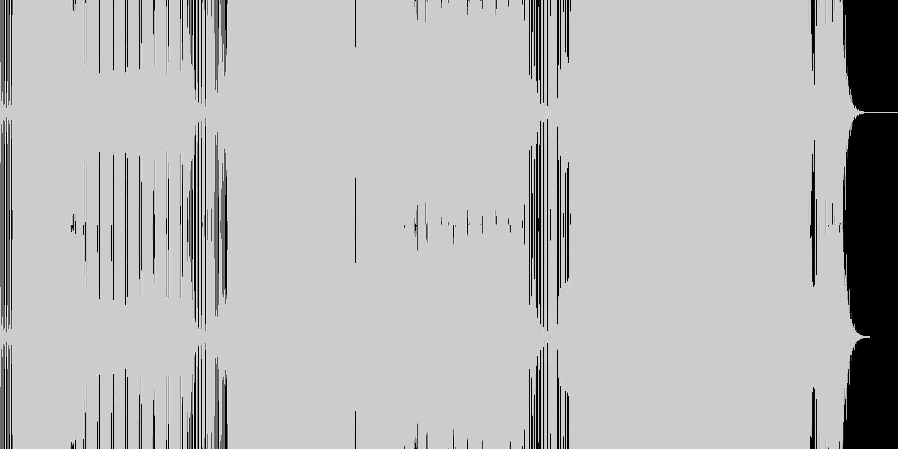 2014年最初の作品にしてクレオフーガ…の未再生の波形