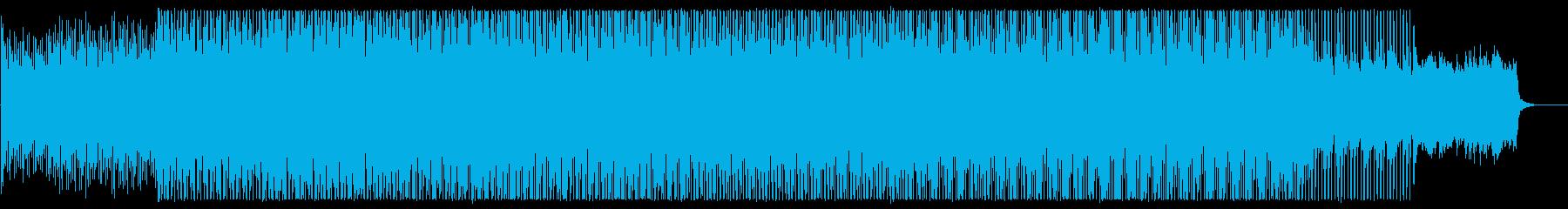 穏やかなミディアムテンポのテクノポップの再生済みの波形