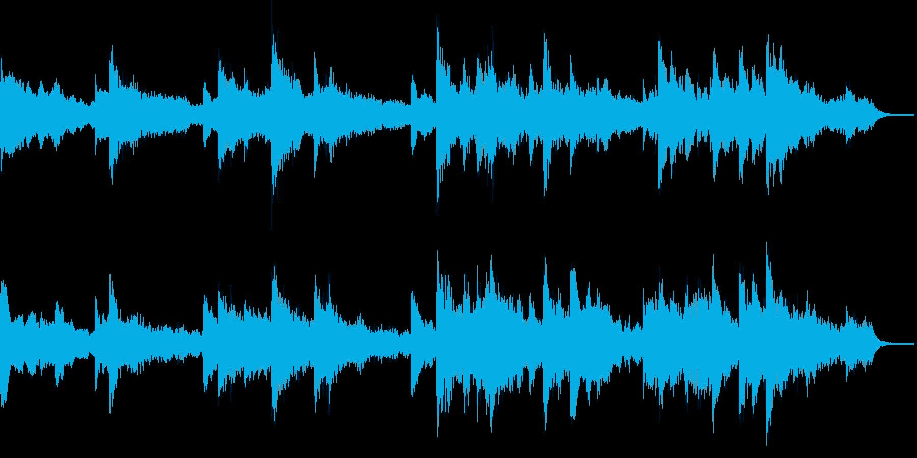 暗く切ない雰囲気のピアノジングルの再生済みの波形