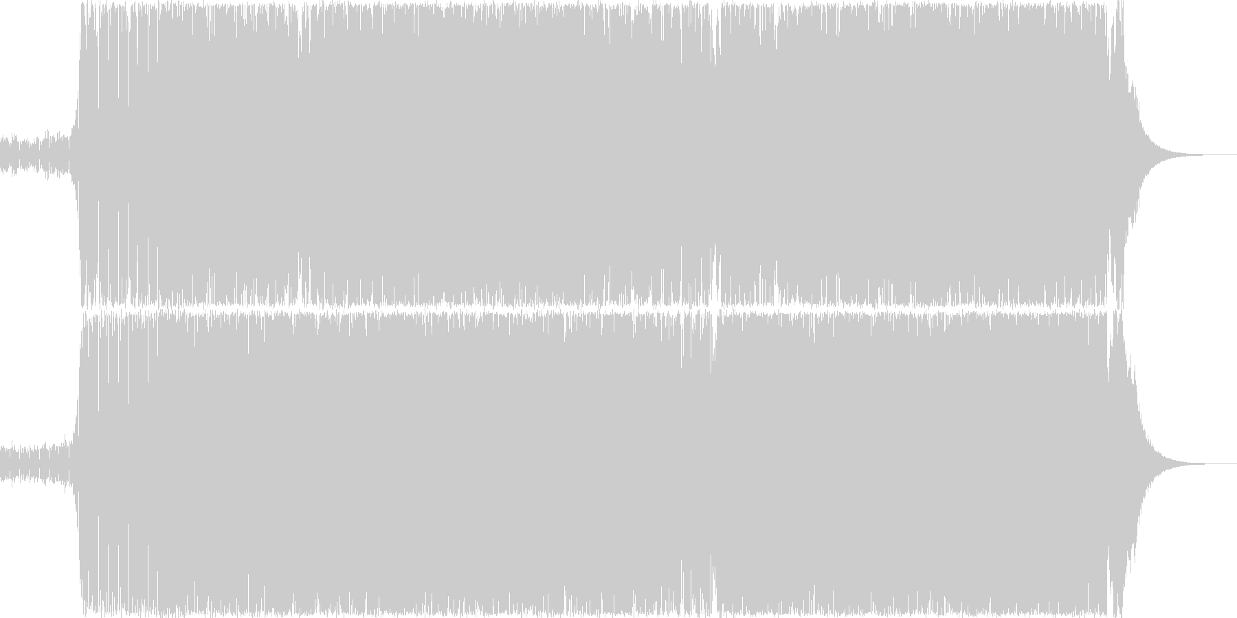 シンプルなトランスですの未再生の波形