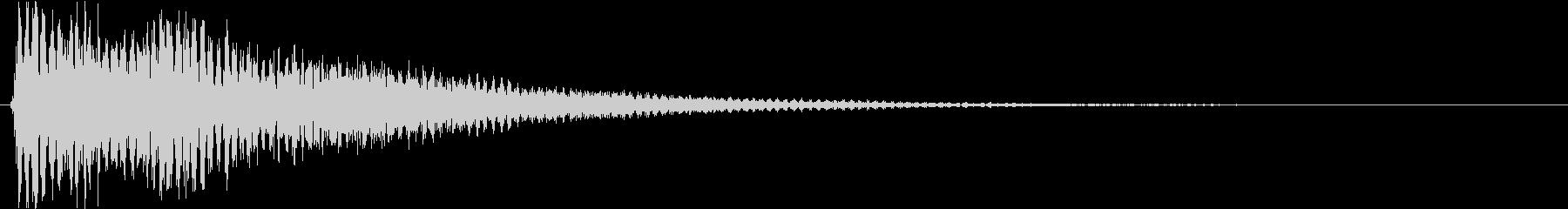 ズゥーン(ホラー系、SE、低い)の未再生の波形