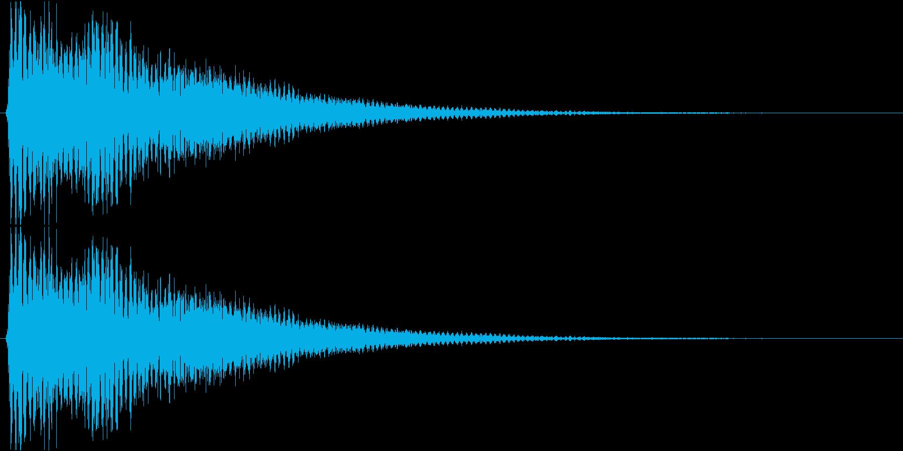 ズゥーン(ホラー系、SE、低い)の再生済みの波形