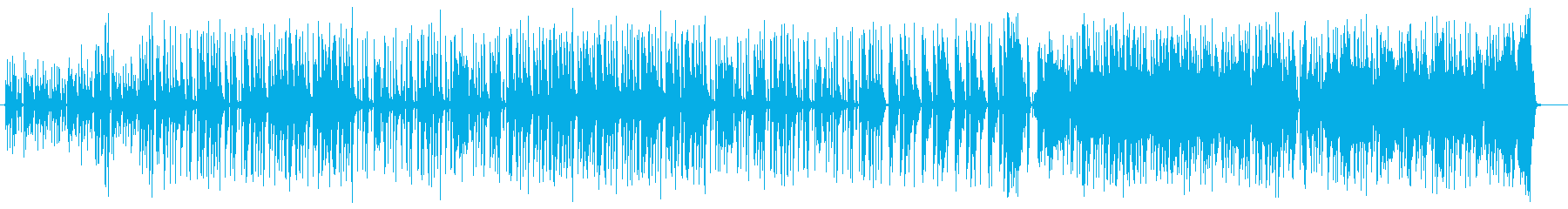 緩やかでマイナーなシンセサウンドの再生済みの波形