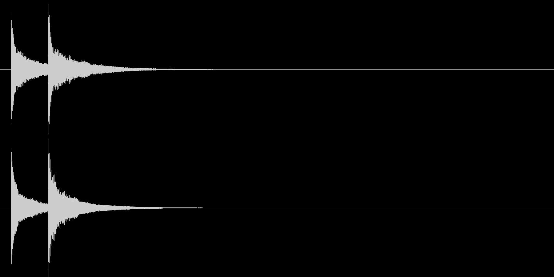 ピンポン系4 ずっこけ(カウベル)の未再生の波形
