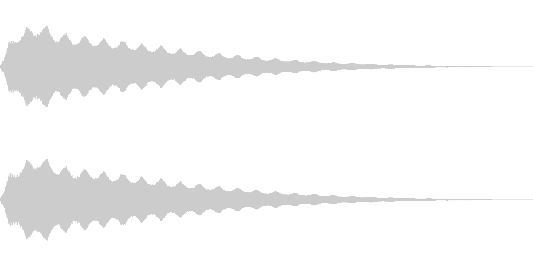 コミカルなビヨヨ~ンの未再生の波形