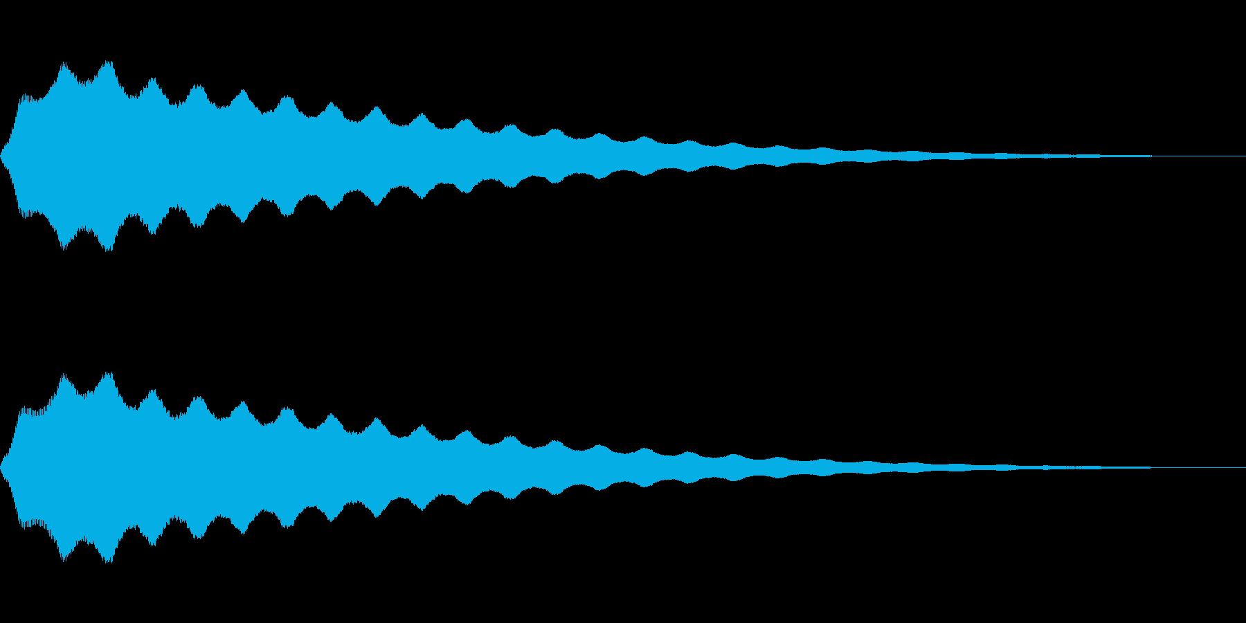 コミカルなビヨヨ~ンの再生済みの波形