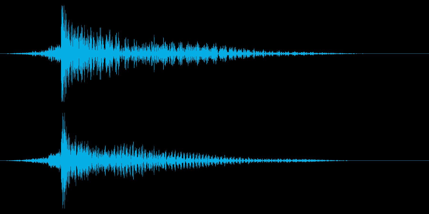 ホラー系アタック音108の再生済みの波形