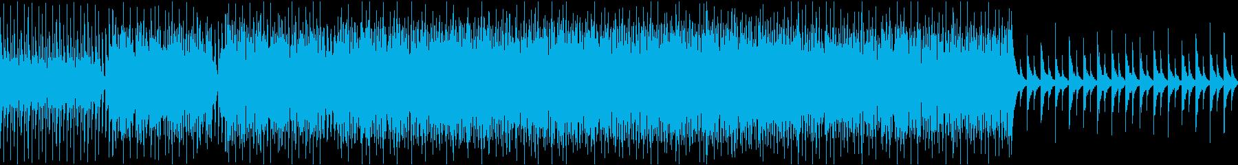 テンポ感重視のピアノダンス曲の再生済みの波形