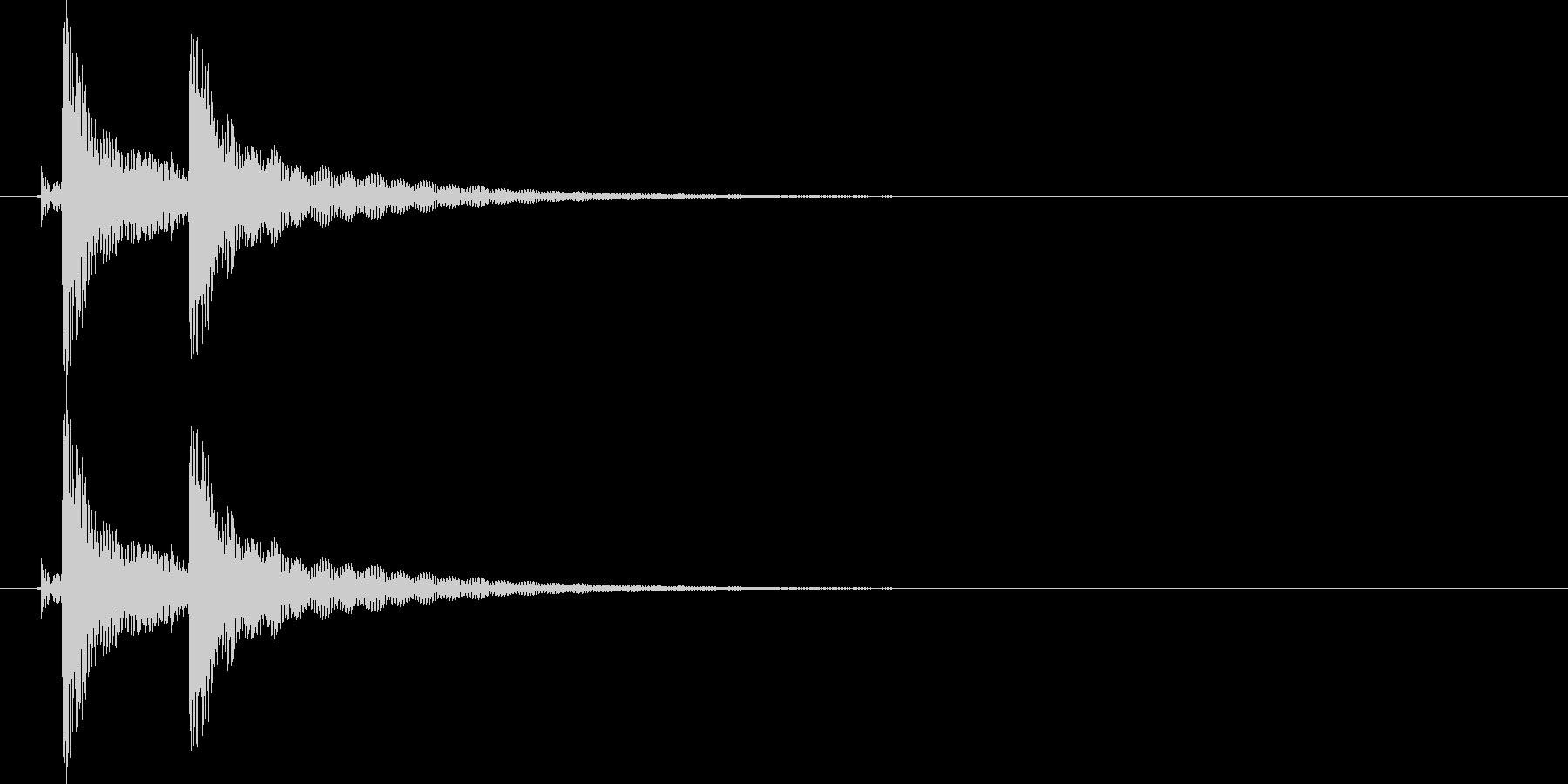 沖縄風クリック・タップ音1の未再生の波形