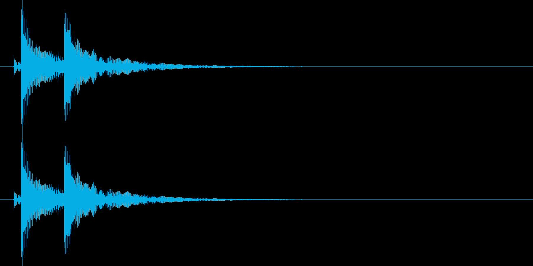 沖縄風クリック・タップ音1の再生済みの波形