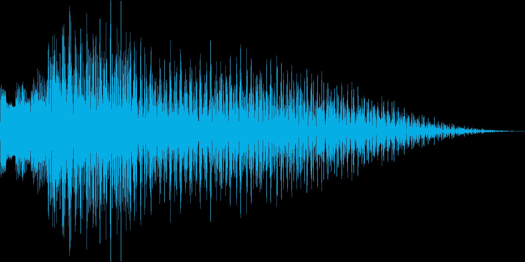 ポロロン(ハープ 下降 アイテム表示)の再生済みの波形
