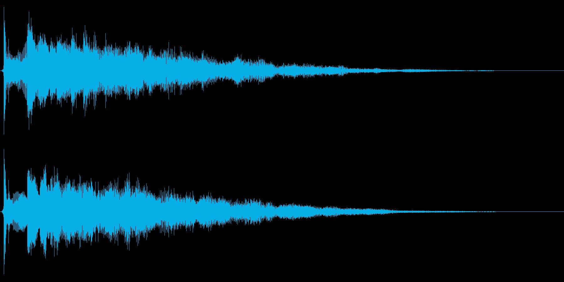 サウンドロゴ想定クールなエレキギターの再生済みの波形