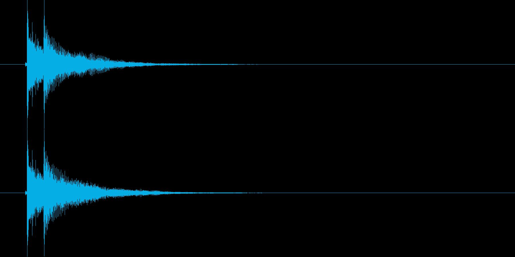 デデン(和風決定音)の再生済みの波形
