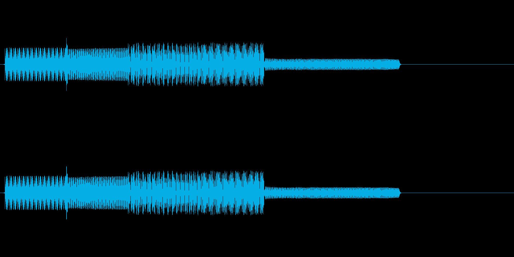 ファミコン風効果音(ぶわっ)の再生済みの波形