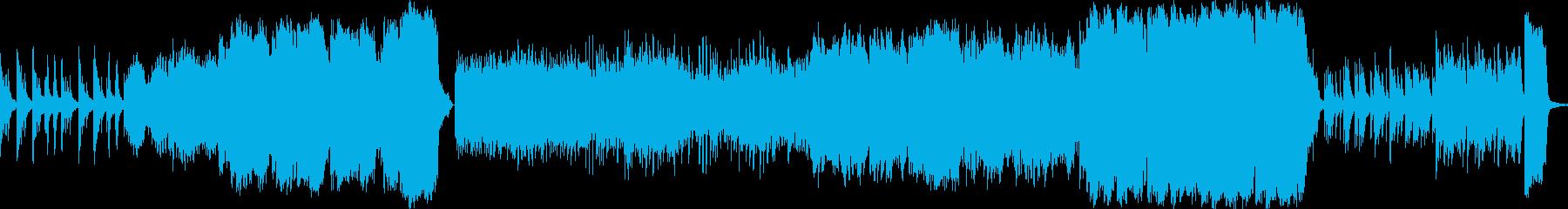 壮大で悲しげな映像音楽の再生済みの波形