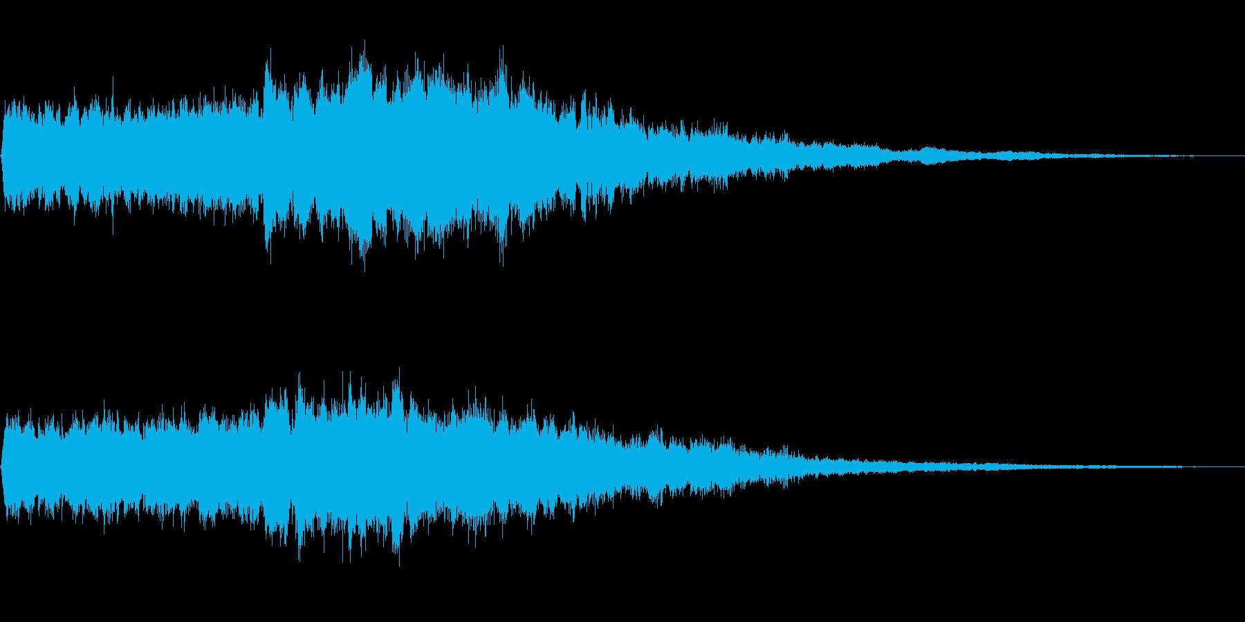 回復魔法とか何かが浄化されてく音の再生済みの波形