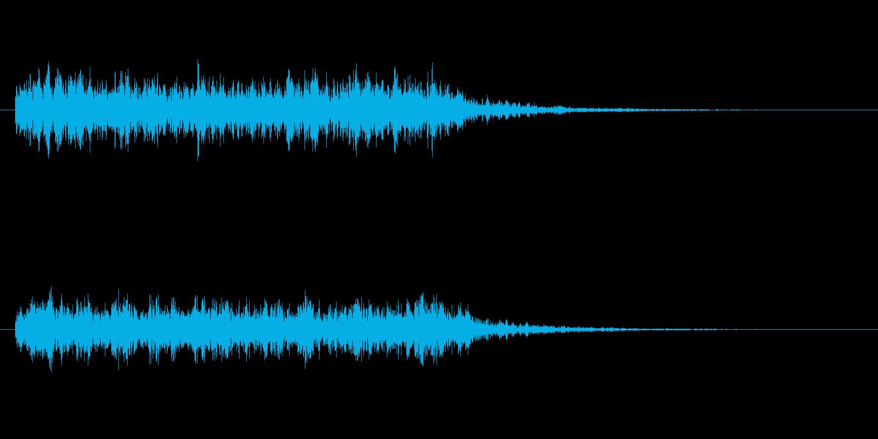 スネアロール_長い_リバーブ有りの再生済みの波形