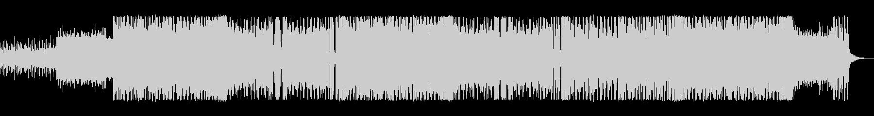 エレキギターが印象的なロックの未再生の波形