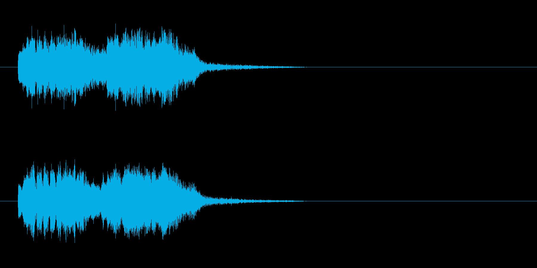 「ピーピーッ!」ふざけた鳥の鳴き声の擬音の再生済みの波形