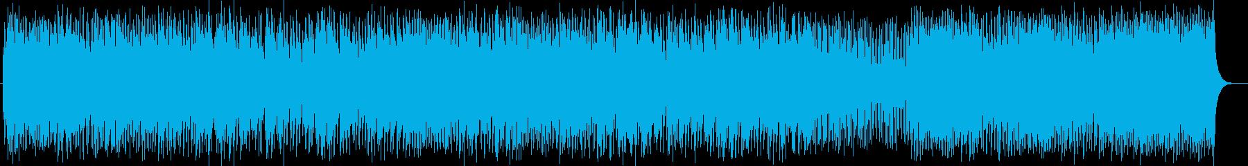 キーボードが奏でるポップなメロディーの再生済みの波形