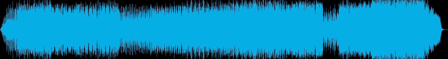 幻想的に水面の波紋をイメージしたBGM…の再生済みの波形