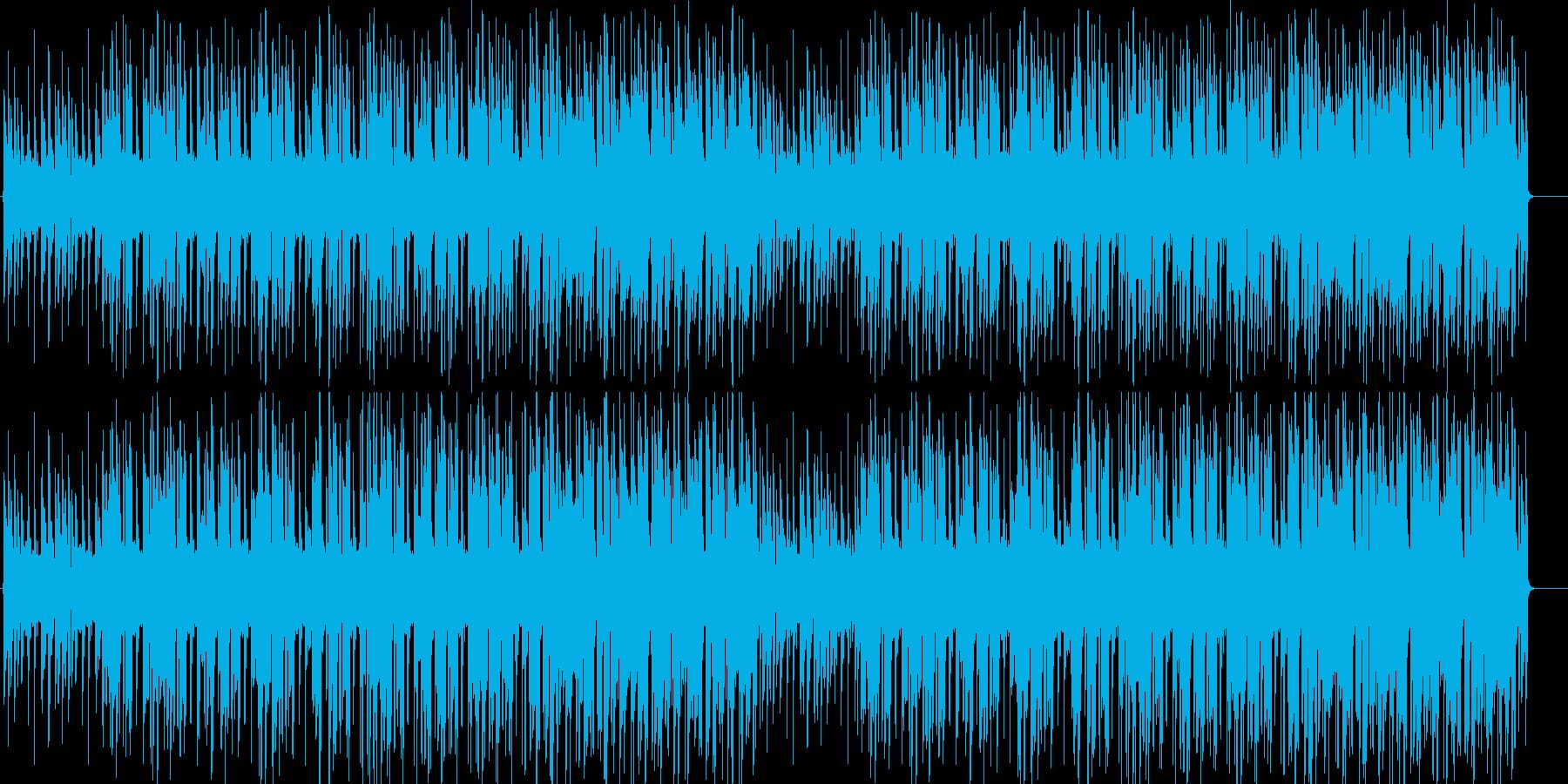 アニメ明るいシーンを連想させるほのぼの曲の再生済みの波形